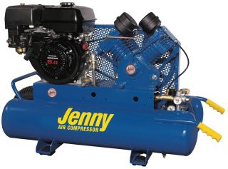 New Jenny Products Air Compressor G8HGA 8P Honda 8 HP Gas Engine 4 Cyl