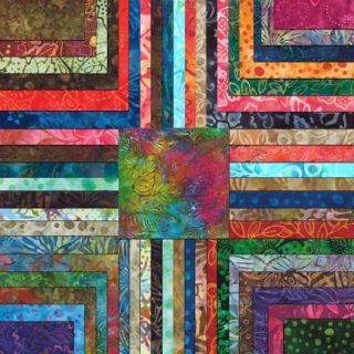 Kapalua Batiks Moda Fabrics Jelly Roll 2 Charm Packages Cotton Fabric