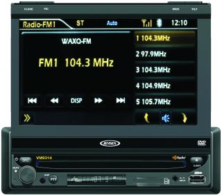 New Jensen VM9314 7 Touch Screen HD Radio DVD USB Car Video Player