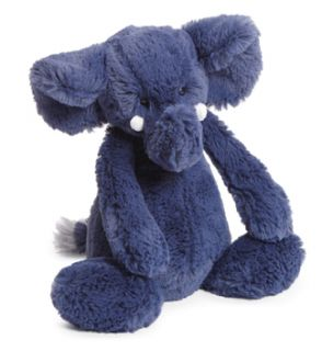 Jellycat Bashful Blue Elephant Medium Stuffed Animal Plush New