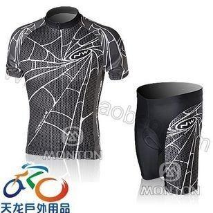 New Mens Black Spider Cycling Jersey Shorts Clothing Set M L XL XXL