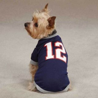 Casual K9 Tom Brady Dog Jersey Leader of The Pack Patriots Pet Shirt