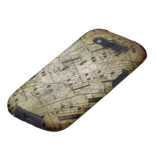 Old sheet musical score, grunge music notes galaxy SIII cover