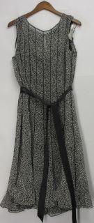 Jessica Howard Sz 18W Sleeveless Pin tuck W/ Ribbing Dress Black NEW