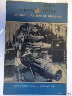 Aircraft Gas Turbine Division Brochure Catalog Jet Engines