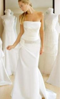 Jenny Lee Wedding Gown Dress Sz 10 Ivory Silk Satin Sample