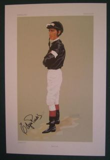 SIGNED EDGAR PRADO HORSE RACING JOCKEY PRINT KEENELAND VANITY FAIR