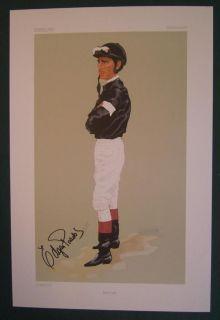 SIGNED EDGAR PRADO HORSE RACING JOCKEY PRINT KEENELAND VANITY FAIR