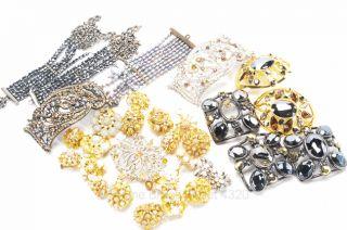 BARRERA $5K MSRP 1lb+ mixed metal crystal pearl JEWELRY REPAIR PARTS