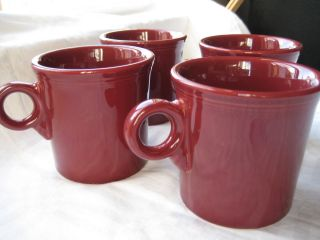Cinnabar Mug Set of 4 Homer Laughlin Replacement Tom Jerry Mug