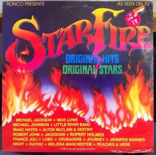 Various Michael Jackson Star Fire LP SEALED Ronco 3200 Vinyl 1980