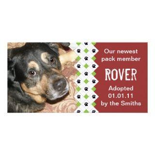 Invitación de la adopción del perro/del perrito tarjetas personales