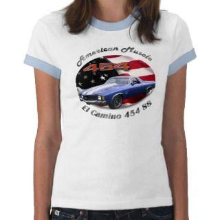 El Camino 454 SS Girls Ringer Tee Shirt