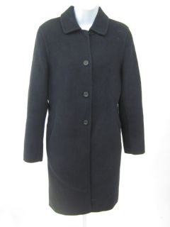 Jil Sander Navy Angora Button Coat Jacket Sz 38