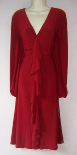 JONES NEW YORK Woman Red Jersey Holiday Cocktail Party Evening dress