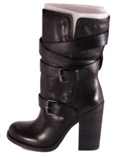 Jessica Simpson Tylera Womens Black Skipper Mid Calf Leather Boots