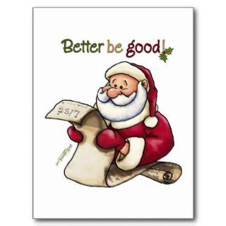 Merry Christmas Naughty Santa Postcards & Postcard Template Designs
