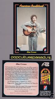 Jim Croce 1993 American Bandstand Trading Card