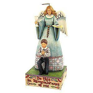Jim Shore Heartwood Creek First Communion Boy Angel New