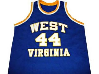 Jerry West West Virginia Mountaineers Jersey Blue New Any Size Kun