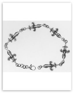 Fleur de Lis Bracelet Sterling Silver