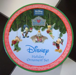 NIB Jim Shore Enesco Disney Holiday Ornament Set Mickey Mouse   5