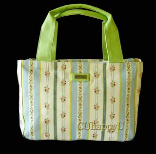 Jim Thompson Vintage Style Blue Green Pastel Floral Summer Handbag