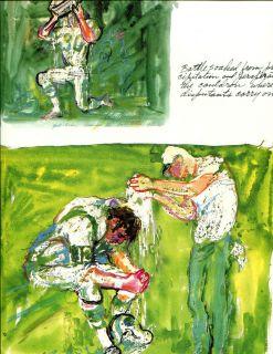 Neiman Print Book Plate Football Joe Namath 1968 Jim Turner
