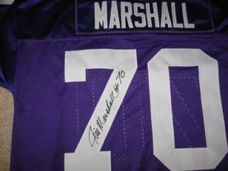 Vikings Jim Marshall Signed Jersey w COA