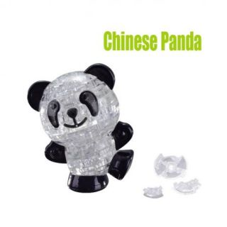 DIY 3D Chinese Panda Crystal Jigsaw Puzzle IQ Toy Game