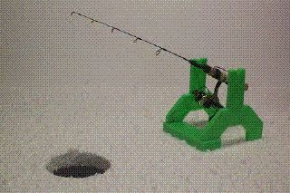 Mr Jigger Ice Fishing Fish House Rod Holder Jigs Lure Ships Worldwide