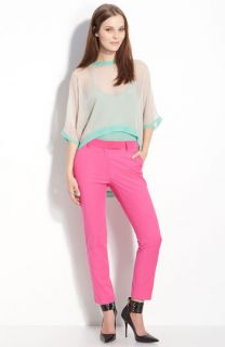 HOT Elizabeth and James Jessie silk sheer dropped back colorblock top