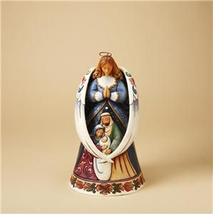 Jim Shore Angel w Wings Around Holy Family Orn 4023470