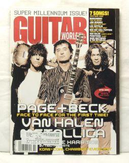 Guitar World Magazine Jimmy Page Jeff Beck Eddie Van Halen George
