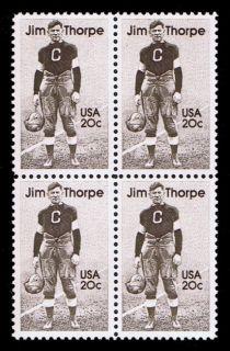 Football Athlete Jim Thorpe on U s Postage Stamps