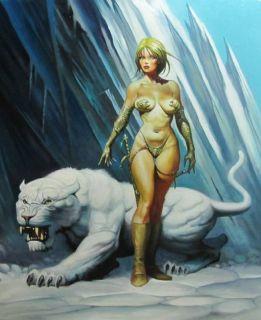 Original Fantasy Art by Ken Kelly Snow Queen