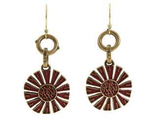 Lucky Brand Jewelry Gold Tone Sunflower Drop Earrings