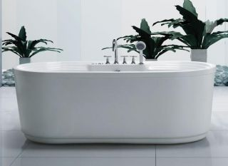 Free Standing Air Jetted Bathtub ~ 24 Air Jets / Royal Tub ~ No Faucet