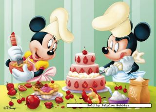 picture of Nathan 45 pieces jigsaw puzzle Disney   Mickey Bakes Cake