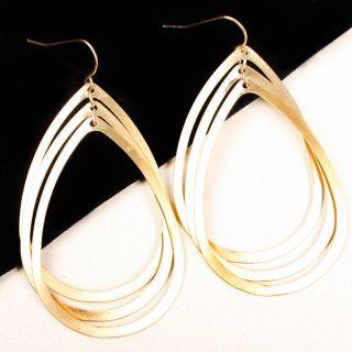 Simple Triple Teardrop Boho Chic Dangle Women Jewelry Earrings