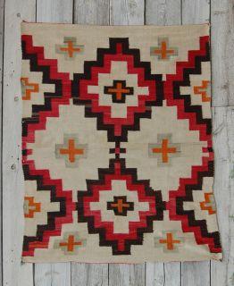 1890s CHURRO TRANSITIONAL NAVAJO RUG American Indian blanket Navaho
