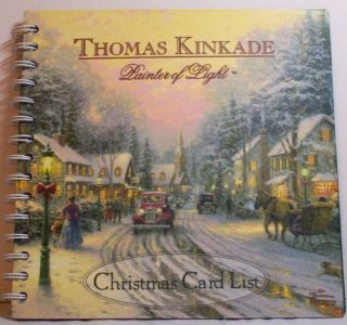 Beautiful Thomas Kinkade Christmas Card List NIP