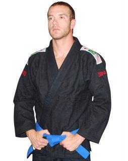 Gold Weave Brazilian Jiu Jitsu Gi Black Kimono A1 A2 A3 A4 A5 A6