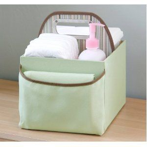 JJ Cole Collections baby Diaper Caddy, Green Stripe , NEW w/ factory