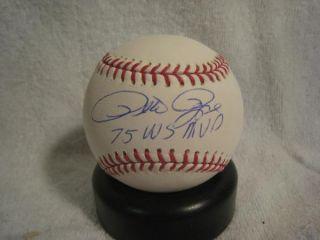 Pete Rose Signed 75 World Series MVP OML Baseball   Mounted Memories