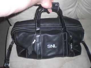 NIGHT LIVE ROOTS LEATHER DUFFLE GYM BAG CELEBRITY OWNED JIM BREUER