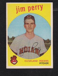 1959 Topps 542 Jim Perry NMT Cleveland Indians Premium Vintage Card Hi
