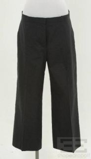 Jil Sander Navy Blue Stripe Cotton Pants Size 42