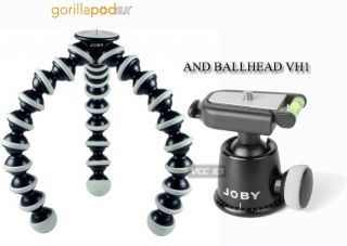 Joby Gorillapod GP3BHEN SLR Zoom Tripod and BH 1 Ball Head with Bubble