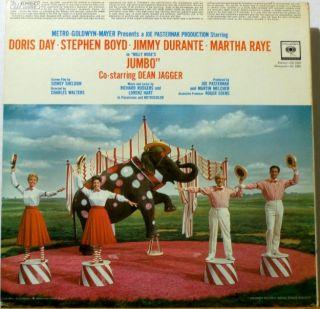 JUMBO   DORIS DAY   JIMMY DURANTE   MARTHA RAYE   ORIGINAL 1962 STEREO
